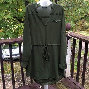 Naked Zebra Green Tunic/Dress Small